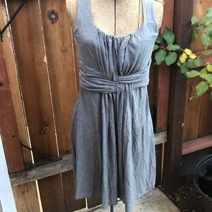 Ann Taylor loft dress grey comfortable S
